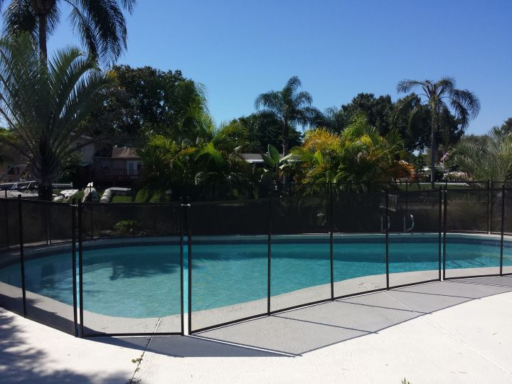 Black-finish Pool Barrier in Town n Country